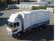 ソーラーパネル搭載文化財輸送診断ハイブリッドトラック