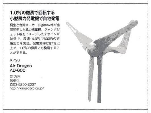 月刊「BestGear」2011年3月号 「Air Dragon」紹介記事