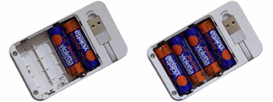 単3形充電式ニッケル水素電池2本 単3形充電式ニッケル水素電池4本
